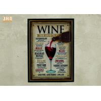 Buy cheap Home Decorations Decorative Wall Plaques Wood Wine Wall Signs MDF Pub Signs from wholesalers