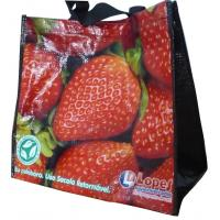 China Durable 120g PP Woven Shopping Bags, Eco-friendly Reusable Carrier Bag With Berry Photos on sale
