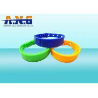 Buy cheap Rewritable  ISO14443A NFC Rfid Wristbands Silicone Customized Logo from wholesalers