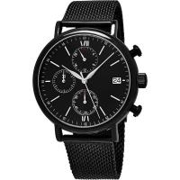 Buy cheap Men's Quartz Chronograph Bracelet Watch with Stainless Steel Mesh Bracelet from wholesalers