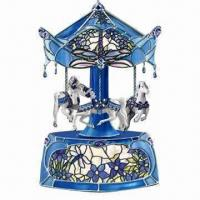 Buy cheap Carousel Music Box with Multicolor LED Light from wholesalers