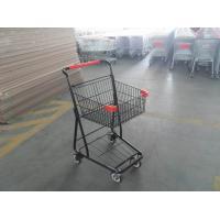 40L Folding Grocery Shopping Trolley , Singel Basket Supermarket Shopping Carts