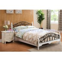 Buy cheap European Style Wood Slat Metal Frame Bed Girls Bedroom Funiture Rusting Resistance and environmental protection from wholesalers