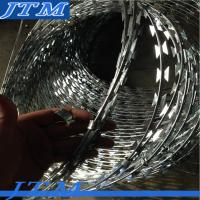 Buy cheap [15 years factory]Concertina razor barbed wire electric galvanized steel garden border edging with good quality from wholesalers