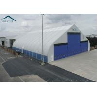 Buy cheap Curved Shape Fireproof Tent FabricFor Outdoor Event Tents , Warehouse Canopy In White from wholesalers