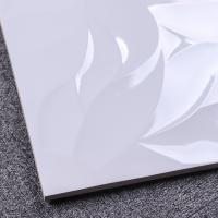 Buy cheap Slip Resistance Decorative Ceramic Tile 30x60 Wave White Glossy Wall Tiles product