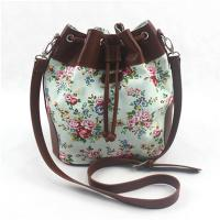 Buy cheap Colorful Ladies Canvas Travel Bag , Drawstring Crossbody Handbags With Long Strap product
