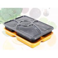 Buy cheap Premium 5 Department PP Food Trays Disposable Plastic Food Containers With Lids from wholesalers