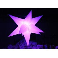 Buy cheap Different Size Hanging Inflatable Led Star 190 T Polyester Material For Party from wholesalers