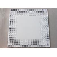 Buy cheap White Perforated Metal Ceiling tiles Tegular of Punching Holes PA6012T from wholesalers