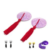 Buy cheap Female Toys Tassels Nipple Covers / Breast Pads Round Shaped , Sex Bondage Toys from wholesalers