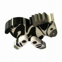 Buy cheap 3-D Zebra-shaped Eraser, Made of TPR, Different Colors are Available from wholesalers