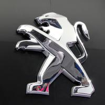 Buy cheap Peugeot Car Logo Sign Maker Plastic Chrome Dealership Advertising Diy Chinese Car signage from wholesalers