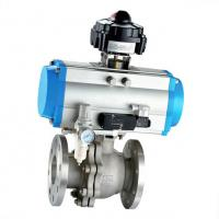 Buy cheap Pneumatic Operated Ball Valve Stainless Steel Control Valve With Actuator from wholesalers