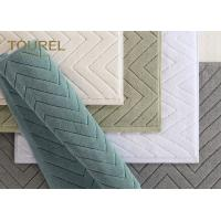 Buy cheap 100% Cotton Washable Hotel Jacquard Bath Rug Mats Disposable Plain Coloured from wholesalers