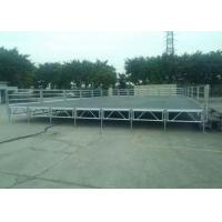 Buy cheap Portable Aluminum Stage Platform Movable 18mm Plywood Board With Handrail from wholesalers