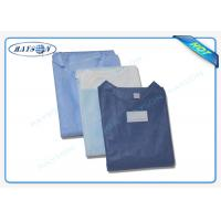 Buy cheap 100% PP , SMS Non Woven Medical Fabric Sterile Disposable Surgical Gown Sauna Dress from wholesalers