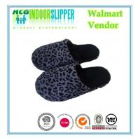 Buy cheap Lady size high quality Jiangsu Yangzhou factory supplier  leopard boa material indoor slippers from wholesalers