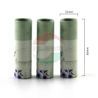 Buy cheap Biodegradable Kraft Paper Lip Balm Tube With CMYK Printing Offset from wholesalers