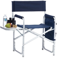 Buy cheap Folding Sports Chair 250 Lbs With Side Table And Pouches from wholesalers