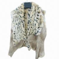 Buy cheap Women's rabbit fur vest, fashionable design and comfortable to wear from wholesalers