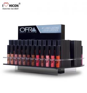 China Fresh Cosmetic Display Stand Custom Merchandising Acrylic Liquid Lipstick Display Stand on sale