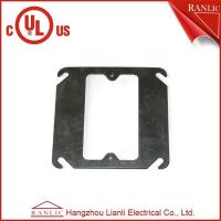 Buy cheap Black Metal Conduit Box Steel One Gang Square Electrical Box Cover , E349123 from wholesalers