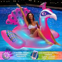 Buy cheap Peacock LED Light Up Inflatable Pool Floats With Remote Control For Ages 15+ from wholesalers