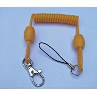 Buy cheap 3.0mm dia Solid Yellow Extended 80cm Retractable Coil Chain with Snap Hook&Nylon Strap from wholesalers