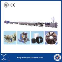 Buy cheap Effcient Plastic Extrusion Line Three Layer HDPE Pipe Prices from wholesalers