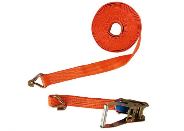 Buy cheap Truck ratchet tie down set cargo lashing with double j hook transport lashing belt from wholesalers