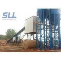 PLC Control Concrete Production Plant / Concrete Batching Machine Low Dust