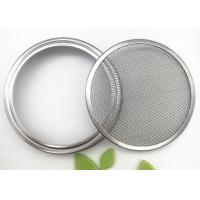 Buy cheap Sliver Color Wire Mesh Filter Element Mesh Strainer Lid For Mason Jar from wholesalers