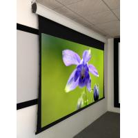 Large motorized tab tensioned projection screen of for Tab tensioned motorized projection screen