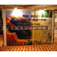 Buy cheap Trade show booth exhibition advertising ISO9001 2000 pop up banner stands printing from wholesalers