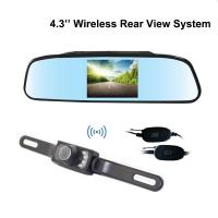 Buy cheap Free from blind spot wireless reverse camera with 4.3 inch rear view mirror display 2.4G from wholesalers