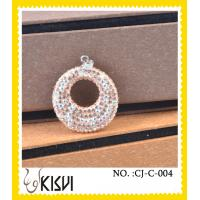 Buy cheap Hight quality CZ crystal & 925 silver round handcrafted crystal charm in a poly bag from wholesalers