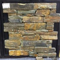 Buy cheap Cement Backed Natural Stone Ledger Panels Rust Color High Temperature Resistance from wholesalers