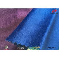 Buy cheap Shiny 144F Italy Sofa Velvet Upholstery Fabric For Home Textile , Anti - Static from wholesalers