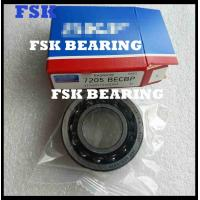 Buy cheap High Precision 7205 BECBP Angular Contact Ball Bearing Single Row Nylon Cage from wholesalers