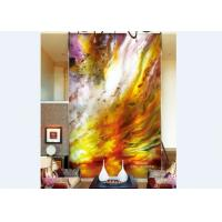 Buy cheap Custom Abtract Art Decorative Glass Panels For Walls Or Glass Doors , 3600×2400mm from wholesalers