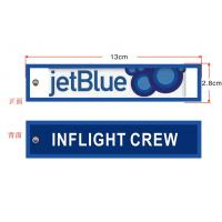 Buy cheap Inflight Crew JetBlue Airlines Fabric Embroidery Key Chain Aviation Tags from wholesalers