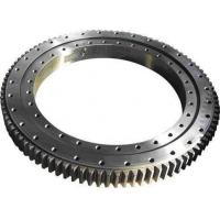 Buy cheap 50Mn, 42CrMo material, Manufacturer cusom machine parts ring gears rubber coated ball slewing bearing from wholesalers