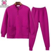 Buy cheap Wholesale Custom Women Padded Pajamas Sleeping Suits for Winter from wholesalers