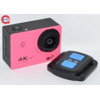 Buy cheap Rose Pink Remote Sports Camera , Car Camera Recorder With Rechargeable Battery from wholesalers