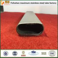 Buy cheap Decoration Construction Stainless Steel Flat Oval Irregular Tube product