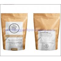 Buy cheap Recycle kraft stand up pouch with zip lock, paper bag for food from wholesalers
