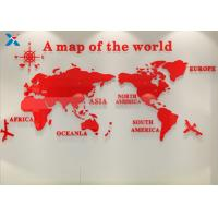 Buy cheap Office Creative Acrylic Shapes Craft / 3D Acrylic Stereo World Map Wall Sticker product