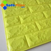 Buy cheap Bright Yellow Colour 770*700mm 3d Foam Brick Wall Decoration Sheet from wholesalers