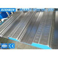 Buy cheap Galvanized Metal Deck Roll Forming Machine with 80 mm Diameter , Roll Forming Line product